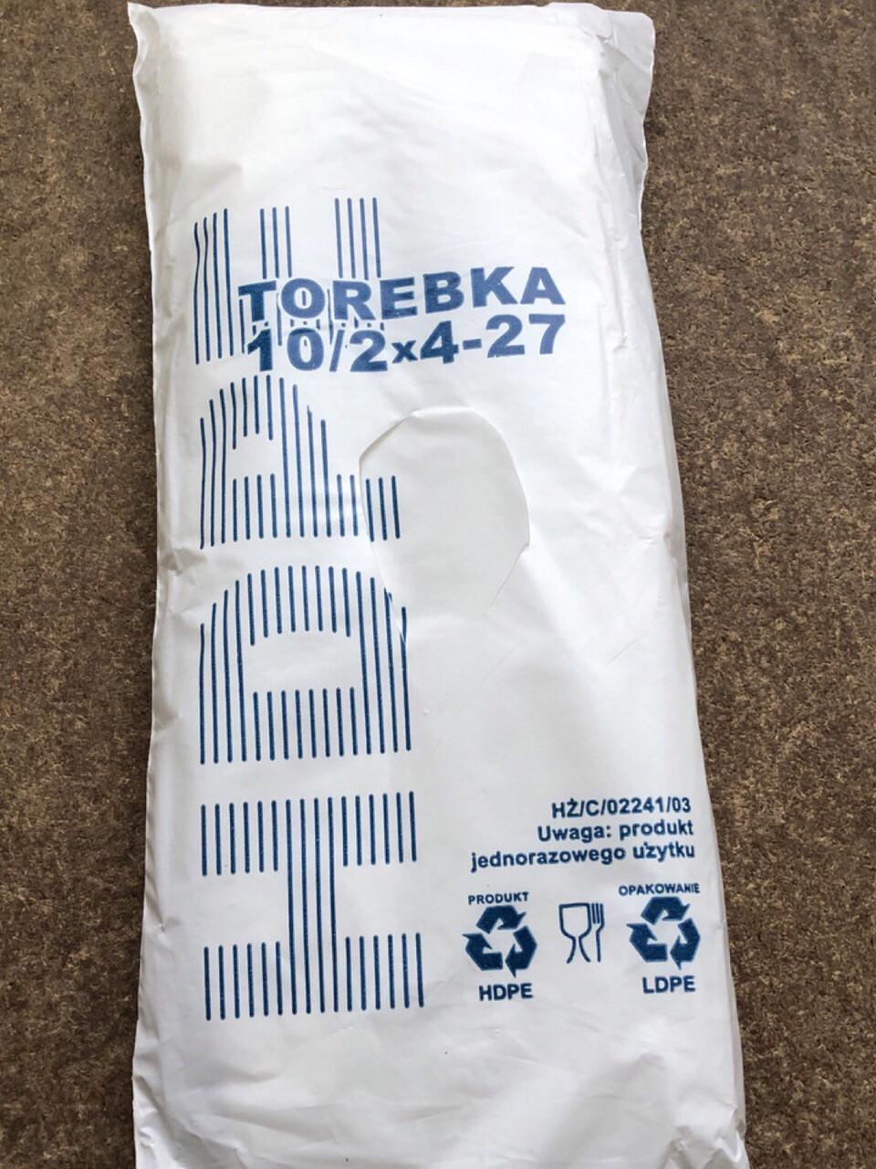 Пакет фасовочный HDPE TOREBKA 10/2*4-27 см без ручек