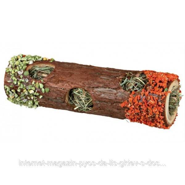 Тоннель с сеном + лепестки календулы (дерево) (Ø 9 × 30 см)