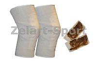 Наколенник эластичный с собачьей шерстью (2шт) (PL, эластан, р-р 29.5*14см) BC-1158