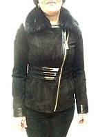 Куртка замшевая женская черная Armani, фото 1