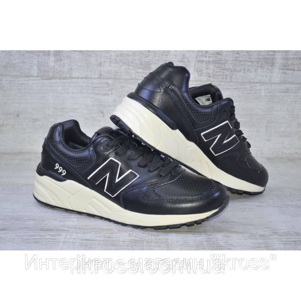 ... Мужские кроссовки New Balance 999. Черные кожаные с белой подошвой. 9c17f79c94c9f