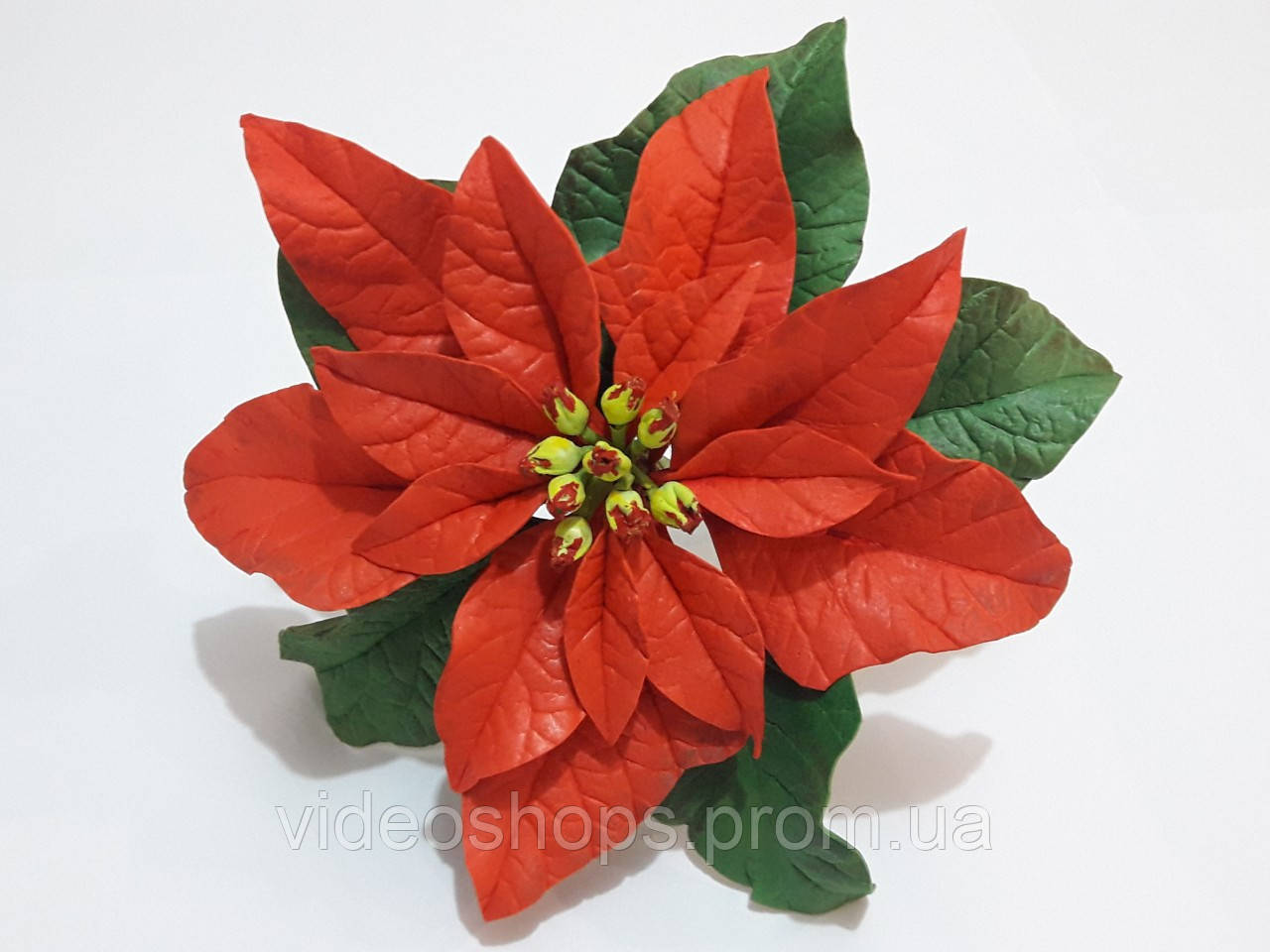 Цветок пуансетии (ручная работа) декор