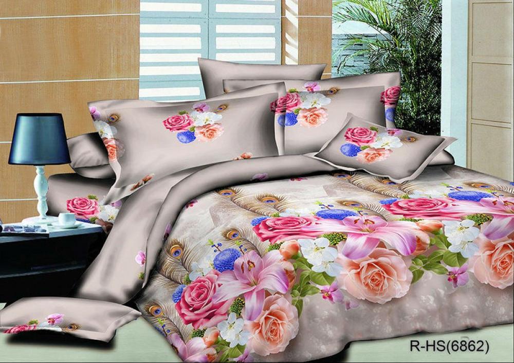 Комплект постельного белья из Ранфорса Розовый сад