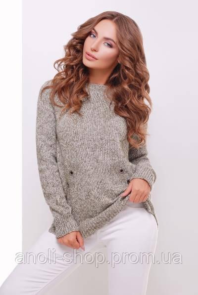 вязаный свитер женский реглан хаки купить по лучшей цене в