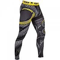 Компресійні штани Venum Snaker Spats Black Yellow (V-02972-111), фото 1