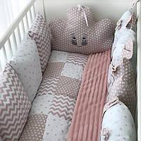 Детское постельное белье   Детский постельный комплект   бортики зверята bbecf42eb12ba