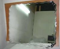 Зеркало с фигурным фацетом 1200*1000 мм