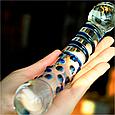 РОЗПРОДАЖ Фалос скляний великий подвійний, фото 5