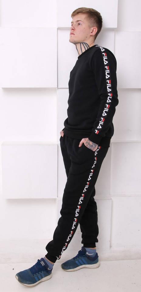 Мужской спортивный костюм Fila (Фила) черный  продажа 60faf981bc6bc