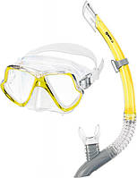 Набор  ZEPHIR (маска + трубка) для ныряний (желтый)
