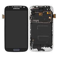Дисплейный модуль (экран и сенсор) для Samsung Galaxy S4 i9500, с рамкой, черный, TFT с регулировкой яркости