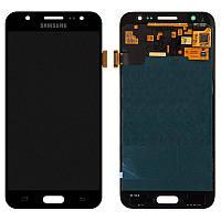 Дисплейный модуль (дисплей, сенсор) для Samsung Galaxy J5 (2015) J500 черный, качественная копия TFT