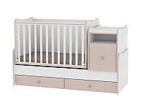 Кровать TREND PLUS NEW COLOUR WHITE/ОАК + mattress