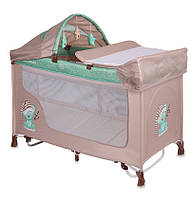 Кровать - манеж SAN REMO ROCKER 2 LAYERS BEIGE&GREEN SLEEPING BEAR