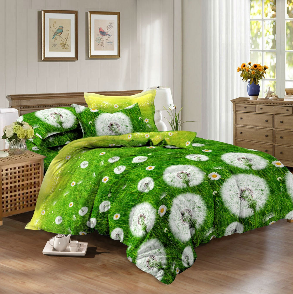 Комплект постельного белья из Ранфорса Одуванчик
