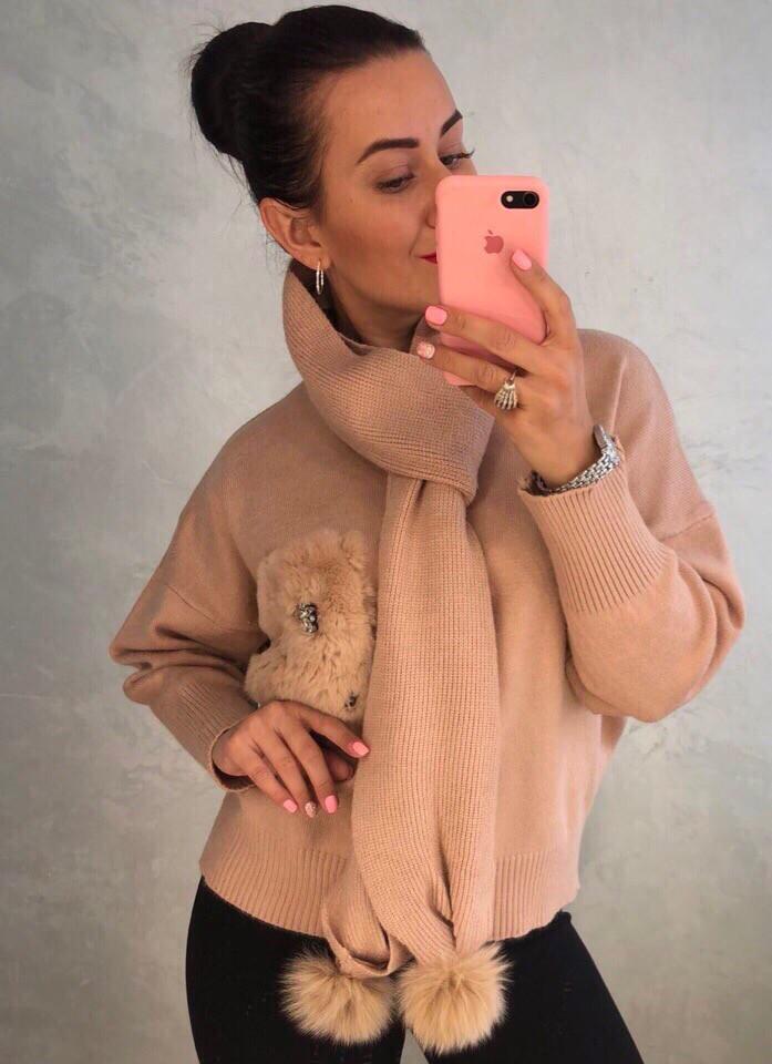 Женский оригинальный свитер РАЗНЫЕ ЦВЕТА(Фабричный Китай ) Код 0129