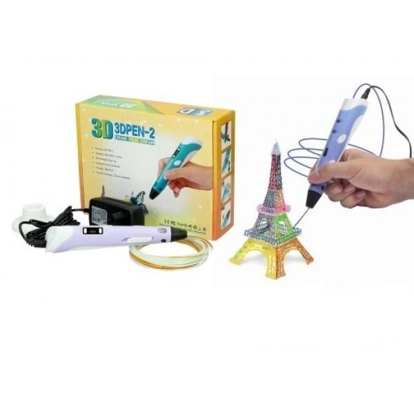 3D Ручка PEN-2 PLA с LCD-дисплеем + пластик