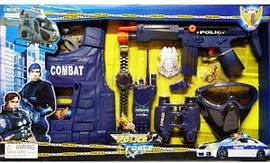 Полицейский набор  автомат, жилет, бинокль - отличный подарок для мальчика