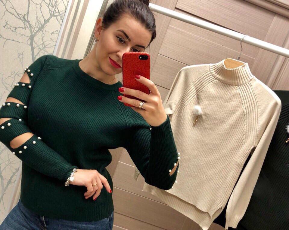 Женский стильный свитер РАЗНЫЕ ЦВЕТА(Фабричный Китай ) Код 046