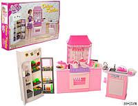 Мебель для кукол Барби Gloria 9986 Большая кухня с холодильником Глория
