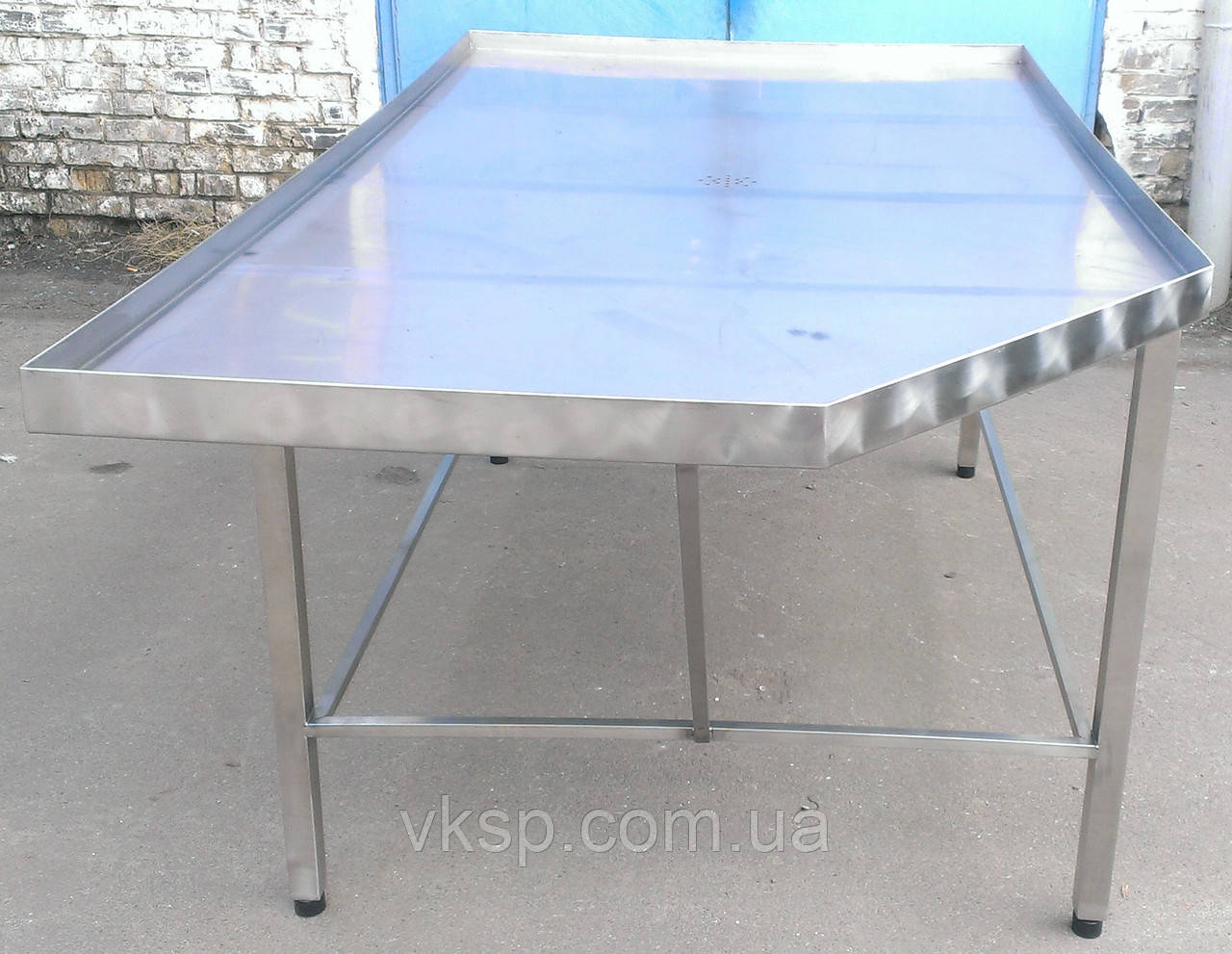 Формовочный усиленный стол 2200х1150 из нержавеющей стали