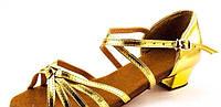 Бальные туфли золотые для девочки