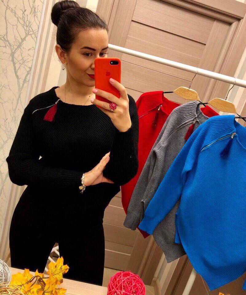 Женский эффектный свитер РАЗНЫЕ ЦВЕТА(Фабричный Китай ) Код 0135