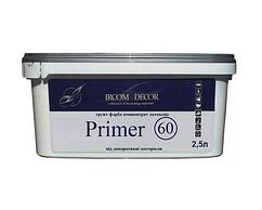 Грунт с мраморной мукой ІРКОМ PRIMER 60 для декоративных покрытий 2,5 л