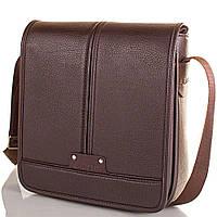 Сумка-почтальонка (мессенджер) Bonis Мужская сумка-почтальонка из качественного кожезаменителя BONIS (БОНИС) SHIM8098-brown