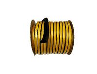 Уплотнители самоклеющиеся резиновые D-тип (черный) 12*14 мм, бухта - 40 м