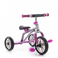 Трехколесный велосипед Profi Trike M 0688-1С  (Серо-розовый)