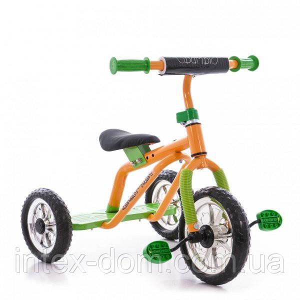 Трехколесный велосипед Profi Trike M 0688-1G  (Желто-зеленый)