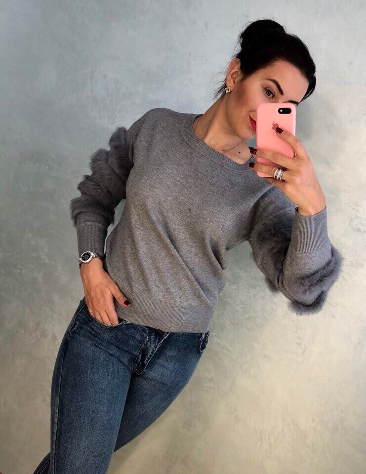 Женский стильный свитер РАЗНЫЕ ЦВЕТА(Фабричный Китай ) Код 079