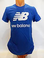 Мужская футболка однотонная NEW BALANCE реплика синяя , фото 1