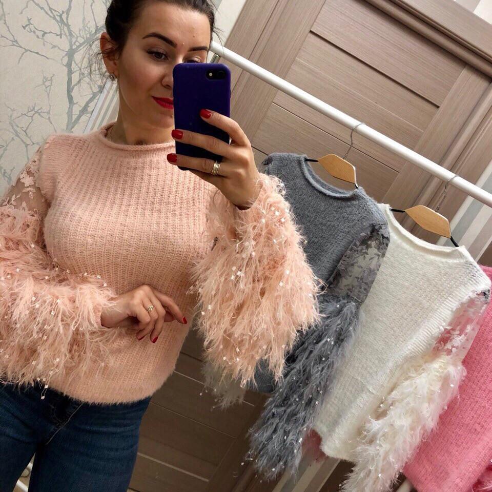 Женский оригинальный свитер РАЗНЫЕ ЦВЕТА(Фабричный Китай ) Код 029