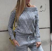 Женский зимний вязанный теплый костюм 42 44 46 48 CAVALIERI