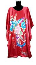 Шелковое платье кимоно жар птица