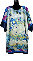 Шелковое платье кимоно с поясом лепестки