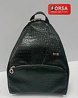 Рюкзак молодежный (стильный)  Forsa текстура черный крокодил FReL01BCr