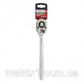 Ключ-тріскачка 1/2 з перемикачем, CrV, хромований. МТХ