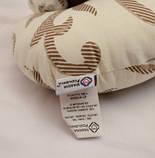 Дорожная подушка под шею Matrix, Бежевая с узором, фото 5