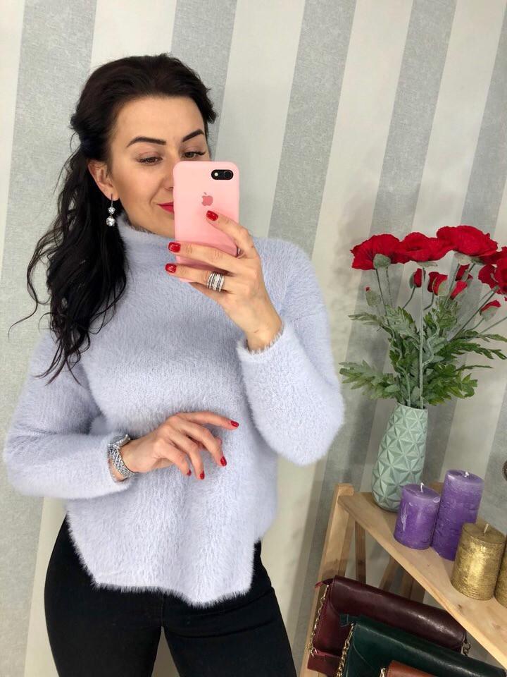 Женский пушистый свитер РАЗНЫЕ ЦВЕТА(Фабричный Китай ) Код 0189