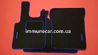 Велюровые автоковры для DAF СF на резиновой основе синие