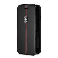 Чехол-книга для iPhone 8 Plus Ferrari Heritage Vertical Черный (BS-000045710)