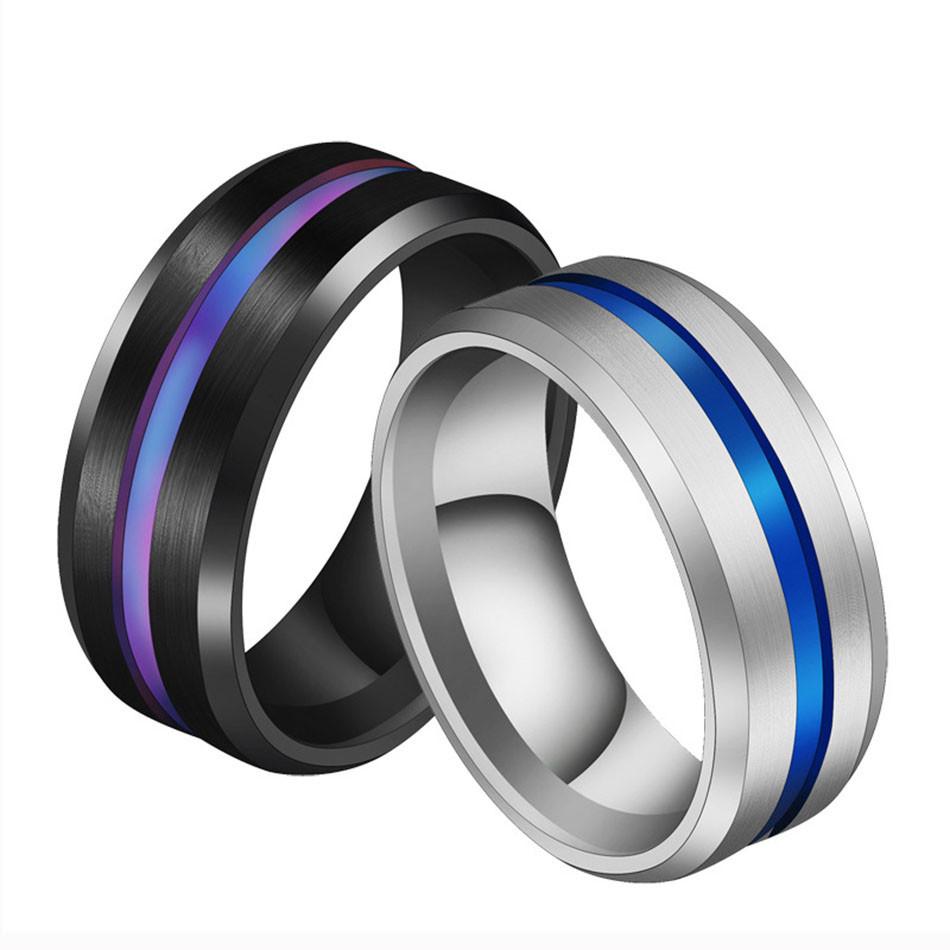 Мужское титановое кольцо обручальное