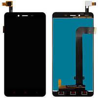 Дисплей (экран) для Xiaomi Redmi NOTE 2 ксиоми + тачскрин, цвет черный