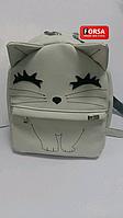 Рюкзак детский Котенок Forsa Белый рюкзак с вышивкой
