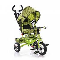 Трехколесный велосипед Profi Trike М 5361-2 (надувные колеса) Зеленый, фото 1