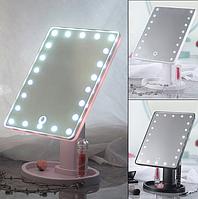 Зеркало косметическое  c подсветкой на 22 светодиода  питание от USB и от батареек