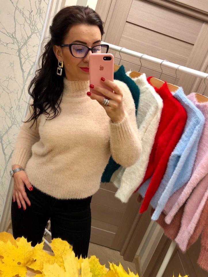Женский пушистый свитер РАЗНЫЕ ЦВЕТА(Фабричный Китай ) Код 190